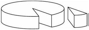 Quesos blandos pequeños. Se trata de cortarlos en triángulos anchos y proporcionales.